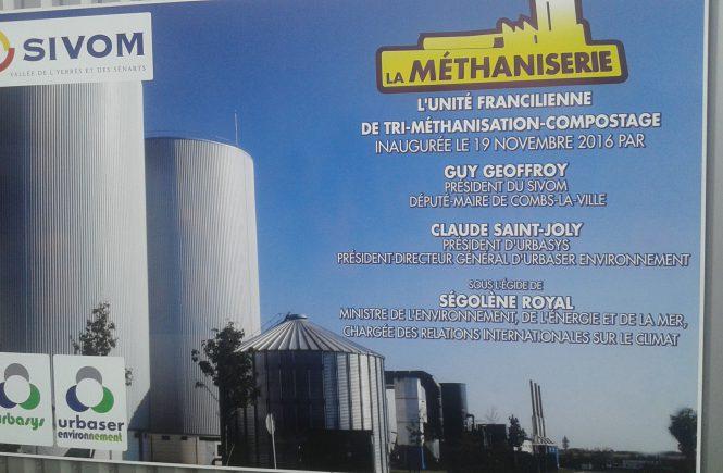 Visite de la méthaniserie SIVOM à Varennes-Jarcy